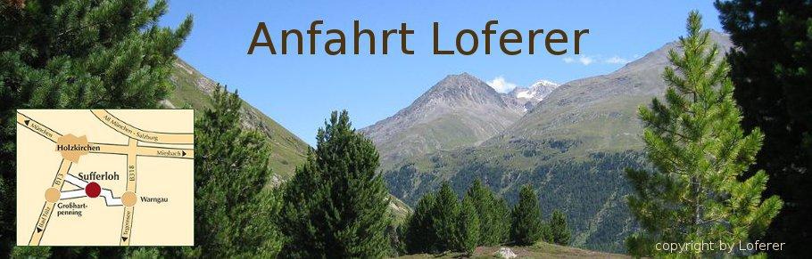 Anfahrt Loferer