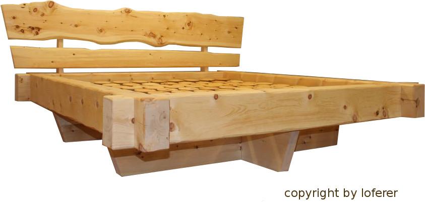 Balkenbett zirbe  Balkenbett Zirbe von Ihrem Zirbenholzverarbeiter Loferer