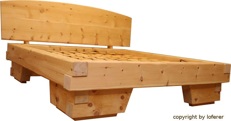 balkenbett zirbe von ihrem zirbenholzverarbeiter loferer